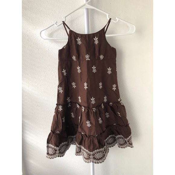 GAP Other - Baby Gap Brown and White Dress 4T